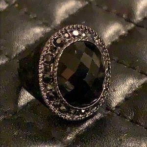 Premier Designs Black Tie Crystal Stone Ring